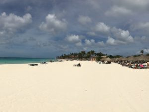 Strand tijdens een vakantie Aruba